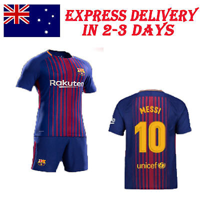 Messi Football Soccer Shirt Jersey Short Kids Kid Boy kit 2017 - 2018 Home Away