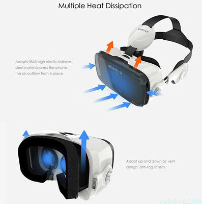 Virtual Reality 3D VR Headset VR BOX 2.0 Goggles VR Glasses Cardboard w/ Remote
