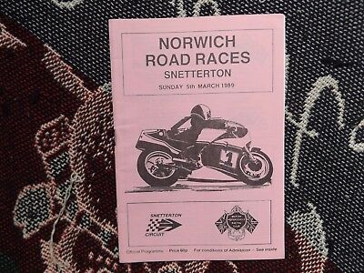 1989 Snetterton Programme 5/3/89 - Norwich Motorcycle Road Races