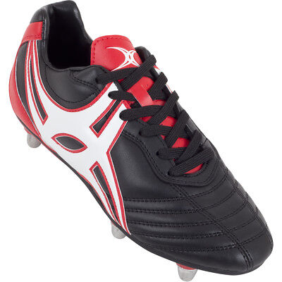 Clearance New Gilbert Sidestep XV 6 Stud Red/ Black Rugby Boots Junior Size 4