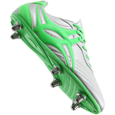 Clearance New Gilbert Sidestep XV 6 Stud Chrome Rugby Boots Junior Size 3