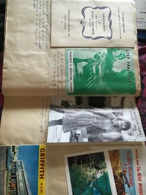 Vintage Scrap Book Full Of Pamphlets.clippings.reciepts.+ Many Things