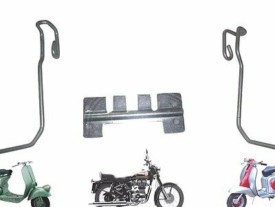 Lambretta Side Panel Clips & Chrome Mounting Bracket Gp Dl Scooters @cad