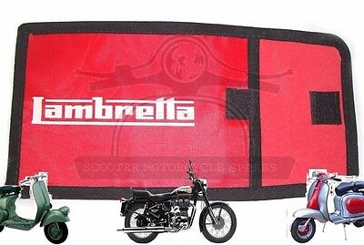Tool Kit Red Bag Woven Pouch With Lambretta Logo @cad