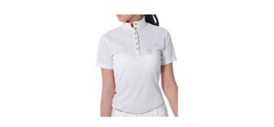 Just Togs Dazzle Show Shirt in White Ladies Competition Shirt | REDUCED