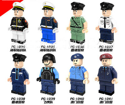 Police Soldier Marine Corps Army Block Toy Minifigure Compatible With Main Brand