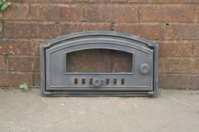 46.7 x 26.8 cm cast iron fire door clay bread oven doors pizza stove smoke house