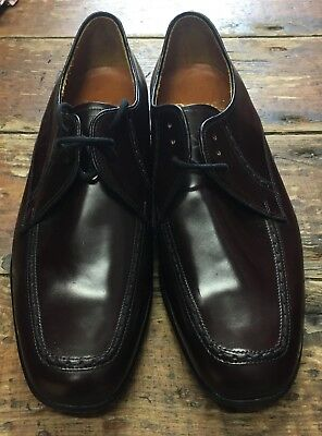Vintage Barker Men's Burgundy High Shine Shoes Size 6 1/2 G, IMPERFECT