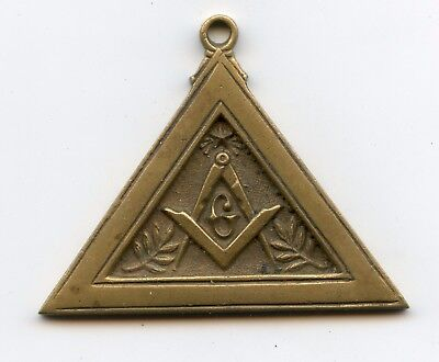 Medaille  Franc Macon Maconnique Triangle