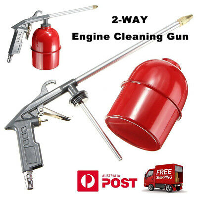 AU Auto Car Engine Cleaning Gun Solvent Air Sprayer Degreaser Siphon Tool Gray