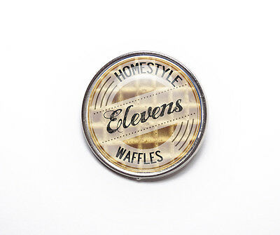 Stranger Things Inspired Elevens Waffles 25mm Pin Badge