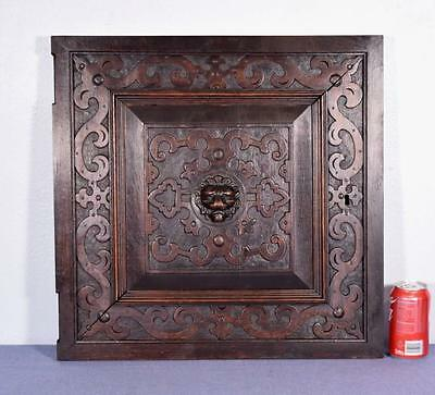 *French Renaissance Revival Antique Carved Panel/Door Oak Wood with Lion 2