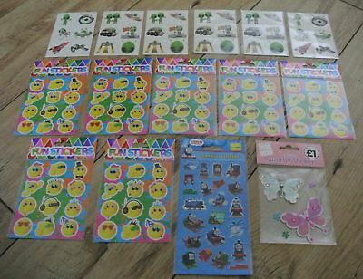 15 Packets of Childrens Stickers - Wholesale Joblot - Great for Party Bags etc