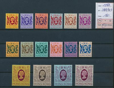 LH21845 Hong Kong 1982 Elizabeth II definitives lot MNH cv 160 EUR