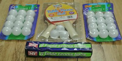 Children's Table Tennis Complete Set - 2 Bats + 33 Balls - Brand New & Sealed