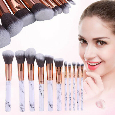 Professional 10pcs Comestic Kabuki Make up Brush Foundation Blusher Face Powder