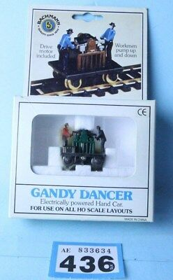 Bachmann 'ho' Gauge 46202 'gandy Dancer' Operating Hand Car Boxed #436B