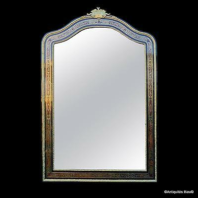 Incredible mirror of 190 cm in Boulle marquetry - Napoleon III period 19th