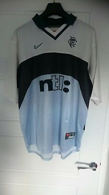 Glasgow Rangers Away top 1999-2000 Nike shirt strip kit Large not unlike 3rd '17