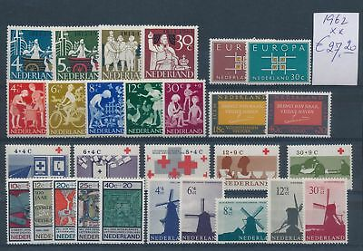 LH21905 Netherlands 1962 nice lot of stamps MNH cv 27,2 EUR