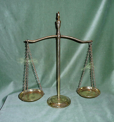 Delightful Solid Brass Balance/ Scales With Pans