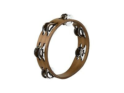Meinl CTA2WB 8'' Tambourine - Compact Wood - Stainless Steel