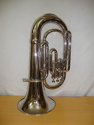 Brand New Silver Bb Euphonium With Free Hard Case+Mouthpiece