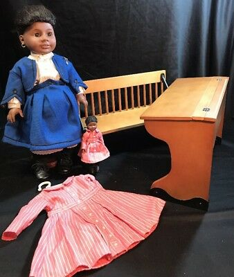 RETIRED American Girl Doll Addy w/ School Desk & Accessories Pleasant Company
