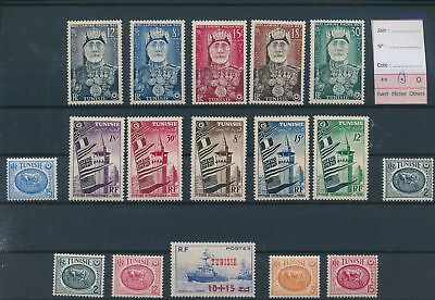 LH22317 Tunisia nice lot of good stamps MH