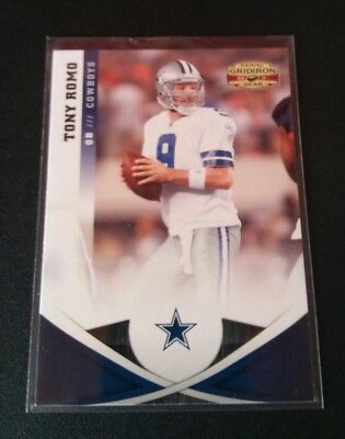 Tony Romo Cowboys #85 Panini Gridiron 2011 Trading Card NFL Football
