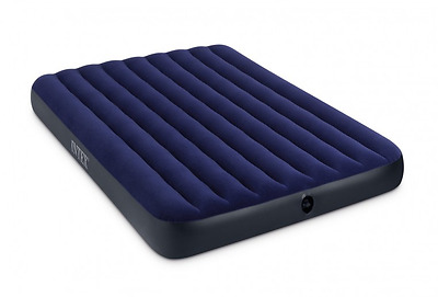 Intex Classic Downy Airbed Mattress Queen Indoor Outdoor Camping Tenting