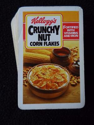 Vintage 1980's Pack Advertising Playing Cards - Kellogg's Crunchy Nut Cornflakes