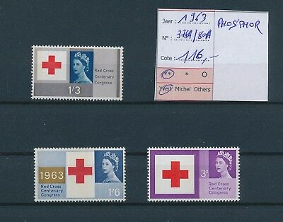 LH21996 Great Britain 1963 centenary red cross fine lot MNH cv 116 EUR
