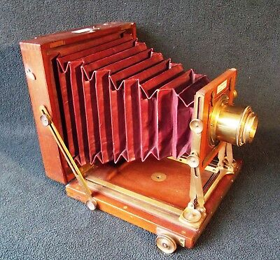 Underwood, Watson Meagher Dallmeyer, Brass Lens, 19thC Fine Antique Plate Camera