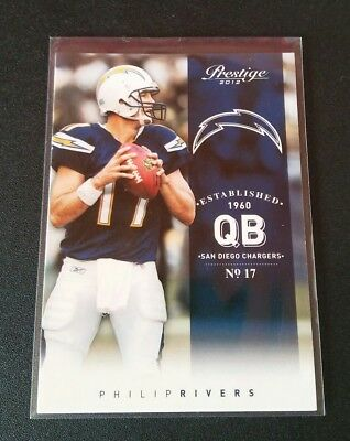 Philip Rivers Chargers #158 Panini Prestige 2012 NFL Football Trading Card
