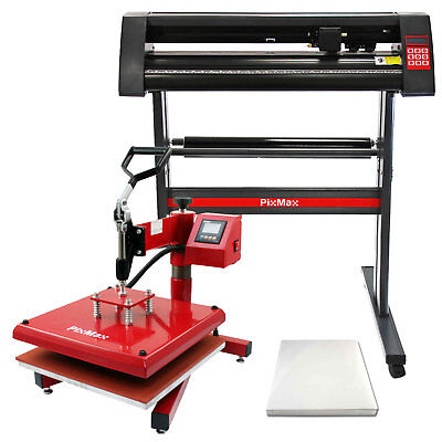 Heat Press Swing 38cm & Vinyl Cutter Print Sublimation Transfer Business Bundle