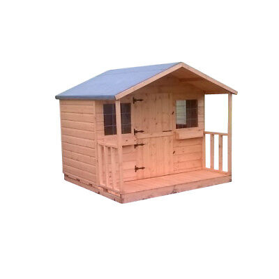 Shedrite High Quality Wooden 6X6 Playhouse Inc 2Ft Porch Great Gift Idea