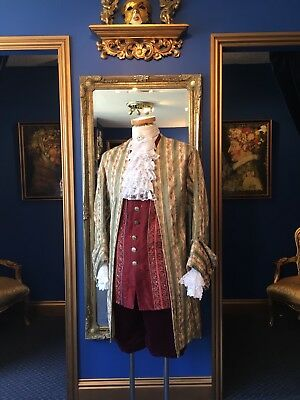 Gorgeous Men's 18th Century Period Theatrical Court Coat, Beautiful Fabric!!