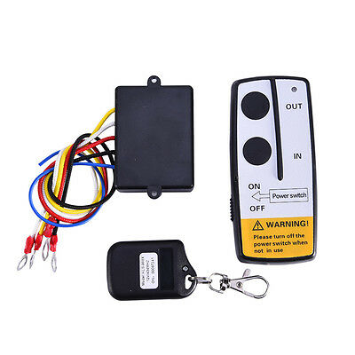 12V 50ft Winch Wireless Automatic Switch Remote Control Set for Truck Jeep ATV