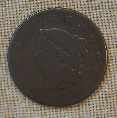 1816 Coronet Head Large Cent - About Good Details