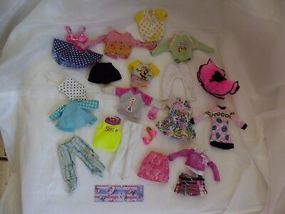 """BARBIE DOLL CLOTHES - 22pc LOT of VINTAGE 7"""" STACIE & SIMILAR SIZE CLOTHING"""