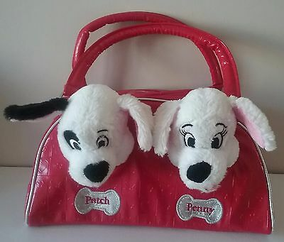 The Disney Store 101 Dalmatians Soft Toy Dogs In Bag Patch And Penny