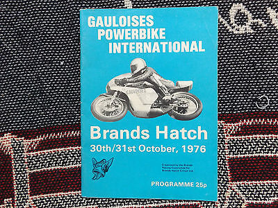 1976 Brands Hatch Programme 31/10/76 - Gauloises Powerbike International