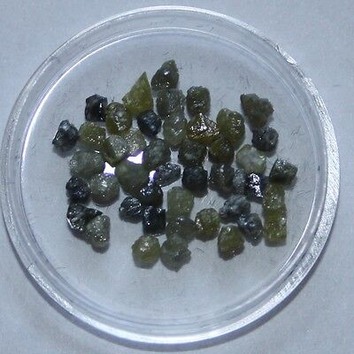 5 carats of mixed Yellow & Grey rough Diamonds. 5.Y/G.1-2