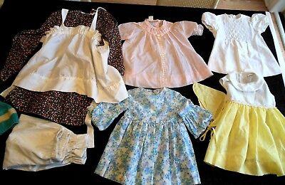 Vintage 1960s/70s LOT of 8PC Baby TODDLER DRESS SETS 2t-4t GREAT SET BEAUTIFUL