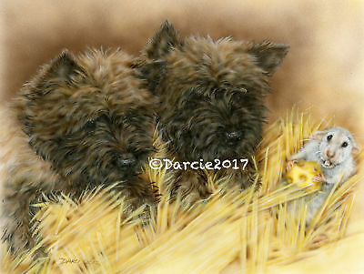 Cairn Terrier Hunt 8x10 print Free Shipping