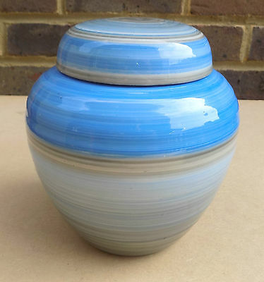 Art Deco SHELLEY Blue Ginger Jar