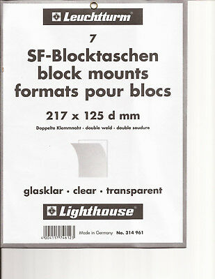 Lighthouse Clear Stamp Mounts - 217mmx125mm 'd' - 7 per pkg-new - Free Ship