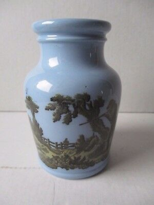 Prattware Victorian Paste Jar With Shooting Scene