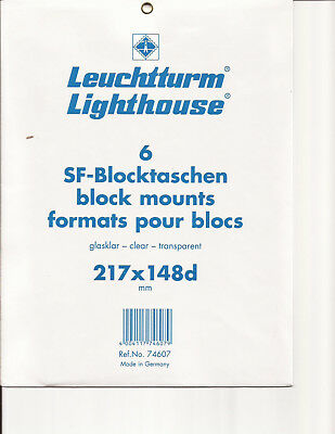Lighthouse Clear Stamp Mounts - 217mmx148mm 'd' - 6 per pkg-new - Free Ship
